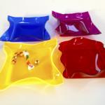 Cast acrylic trays- Transp set - cm25x25