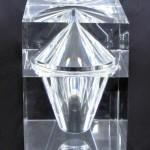 Cubic box in plexiglas 'Cairo'