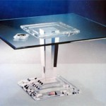 Dinner Table in perspex 'Micene' mic-021,1100x1100h750mm