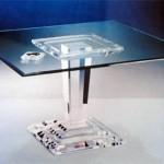 Dinner Table in perspex 'Micene' mic-021,1100x1100h750mm