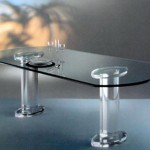 Dinner Table in plexiglas 'Stella'