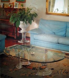 Tavolo da salotto in plexiglas Dorico