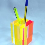 Pencil case in perspex