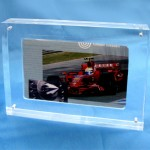 Plexiglas photo-display