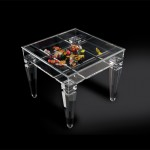 Display side table in acrylic 'Ricordami'