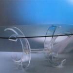 Tavolo da Pranzo in plexiglas 'Luna' cm220x110h75