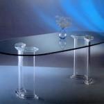 Tavolo da pranzo in metacrilato 'Dorico'