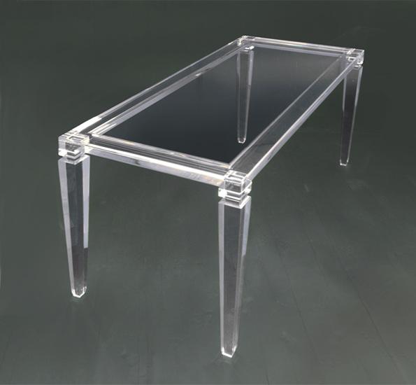 tavolo da pranzo in plexiglas afrodite mm1370x630h750 acrylic dinner ...