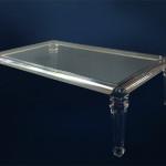 Tavolo da salotto in plexiglass 'Luigi XVI'