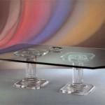 Tavolo da salotto in plexiglass 'Acropoli'