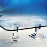 Tavolo da salotto in plexiglass 'Micene'