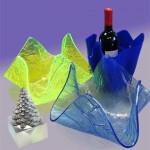 plexiglas fruit-bowls and seau a glace