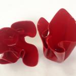 red plexiglas bowls