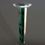 Column in plexiglas with tortoiseshell fantasy. cm 40 h 120