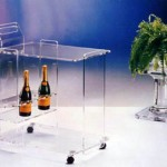 Display Trolley in plexiglas