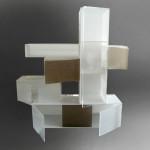 cast acrylic wall bookcase