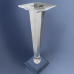 plexiglas column with sphere cm40x40 h 120