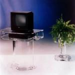 porta TV in plexiglas 'Dorico'
