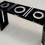 Lucite acrylic console table 'Ring' ( glimpse) mm 1300x350h800