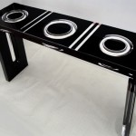 Acryglas console 'Ring' (glimpse)mm 1300x350h800. Design by Donan