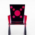 Acrylic chair 'Coccinella'