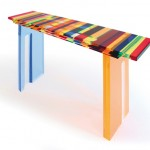 Acrylic console 'Multicolore' mm 1350x350h850. Design by Charlie Bounan
