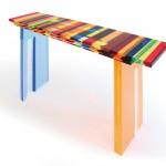 Acrylic console 'Multicolore'