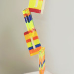Acrylic scuplpture 'Flicker ' mm 360x340h1250