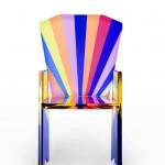 Chair in plexiglas 'Tronetto'.