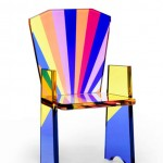Chair in plexiglas 'Tronetto'.