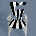 Acrylic Chair 'Stalle e strisce'. Design by Marco pettinari