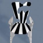 Acrylic Chair 'Stalle e strisce'. Design by Marco pettinari