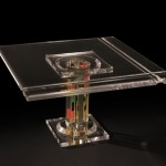 Coffee table in perspex 'Colonna De La Cruz'