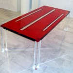 Dining Table in perspex 'Rubino'