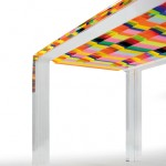Dining table in acrylic 'Baiadera'