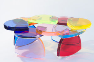 Plexiglas Coffee table BonBon by Marco Pettinari