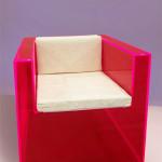 Plexiglas armchair design by Raphael
