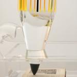 Scultura in plexiglass 'Scrivimi' ('Matita Manzoni'), by Marco Pettinari