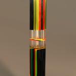 Scultura in plexiglass 'matita multicolore'