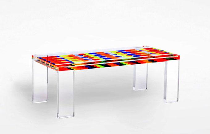 Tavolo Da Salotto: Tavolo da salotto rettangolare in cristallo ...