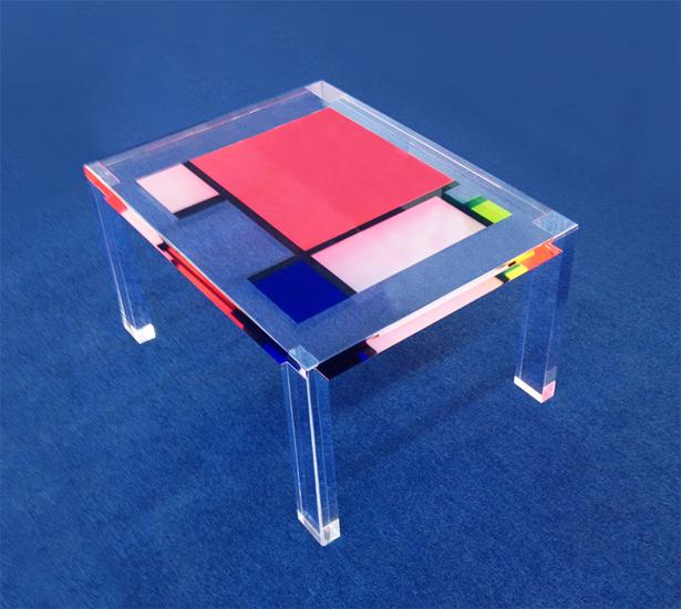 tavolini plexiglass : Tavolo da salotto in plexiglas colorato Un caff? con Mondrian ...