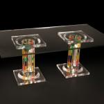Tavolo da salotto in plexiglass 'Colonna De La Cruz'