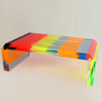 coffee table in plexiglas multicolor cm 120x60h40