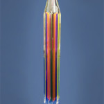 scultura in plexiglas 'Multicolor pencil'