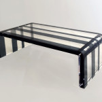 tavolo da salotto in plexiglas pentagram cm 120x60h40