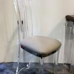 Sedia In plexiglas e acciaio inox Costantinopoli cm43x35h113