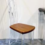 Sedia In plexiglas e legno Costantinopoli cm43x35h113