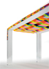 Poliedrica dining table in acrylic Baiadera