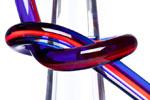 Poliedrica scultura in plexiglas Cono Legato