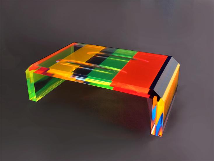 table basse en altuglass cm 120x60h40